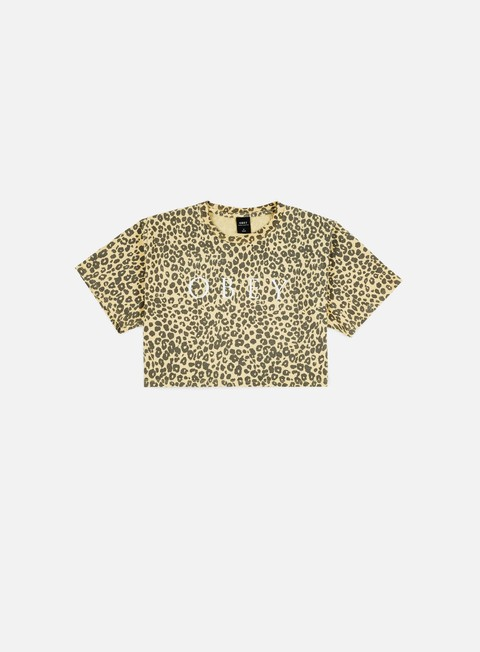 Outlet e Saldi T-shirt a Manica Corta Obey WMNS Novel Obey 2 Printed Jess Cropped T-shirt