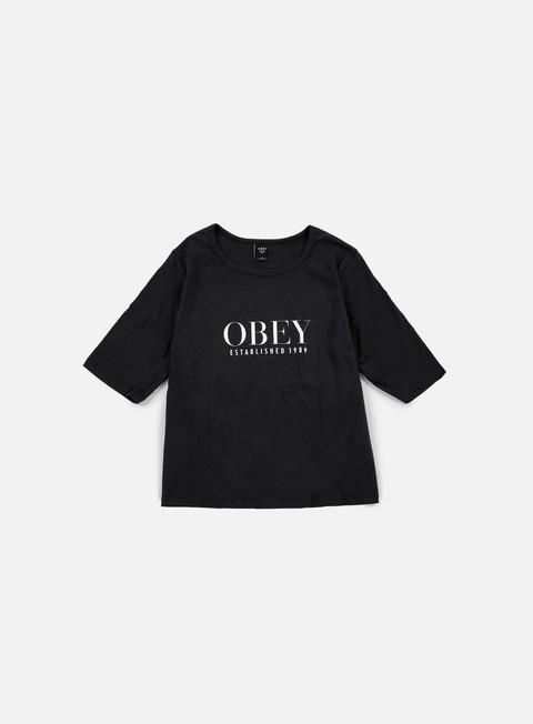 t shirt obey wmns obey vanity owen ii t shirt black