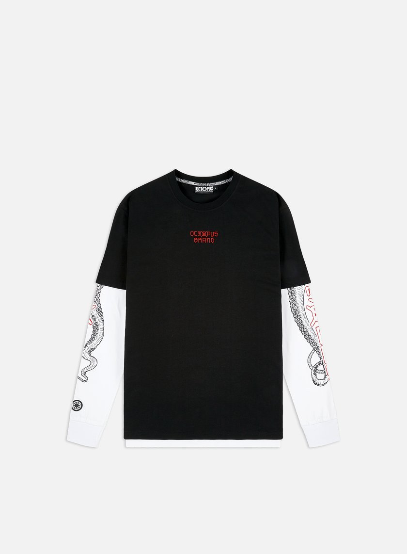 Octopus t-shirt Bandana logo L//S black