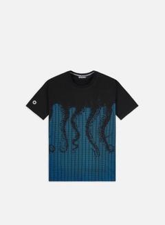 Octopus - Octopus Ascii T-shirt, Light Blue/Black