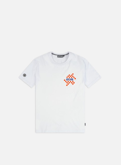 Short Sleeve T-shirts Octopus Octopus Checkered Logo T-shirt
