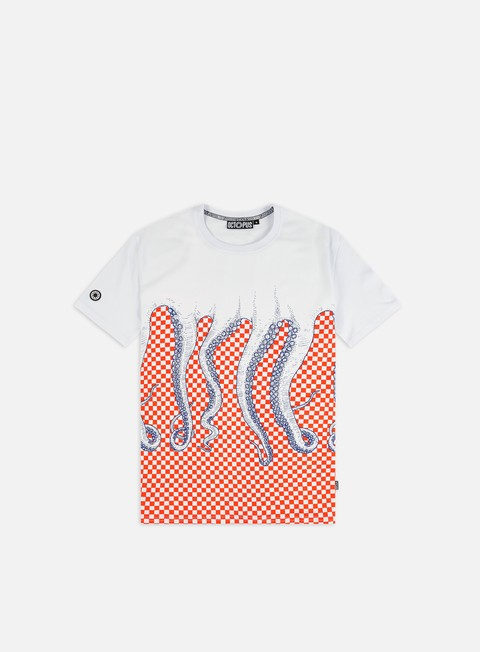 Short Sleeve T-shirts Octopus Octopus Checkered T-shirt