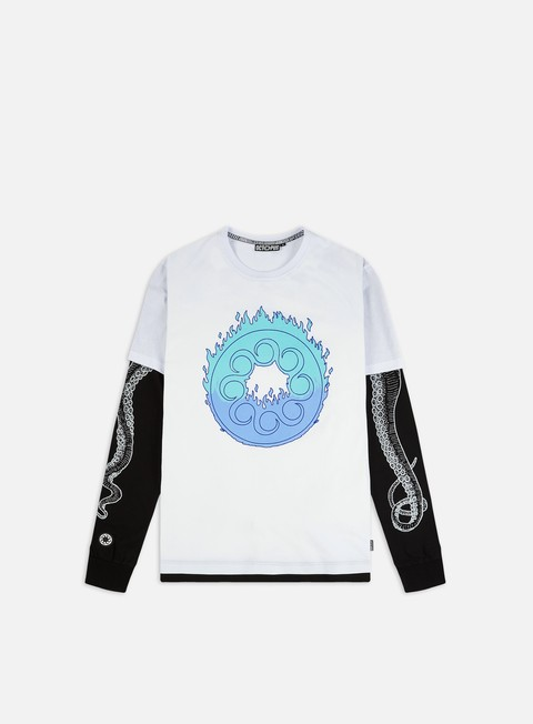 Octopus Octopus Flames Logo Double LS T-shirt