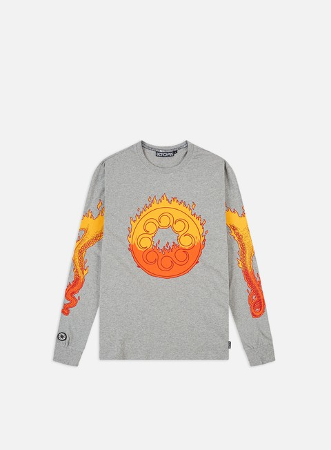 Outlet e Saldi T-shirt a manica lunga Octopus Octopus Flames Logo LS T-shirt