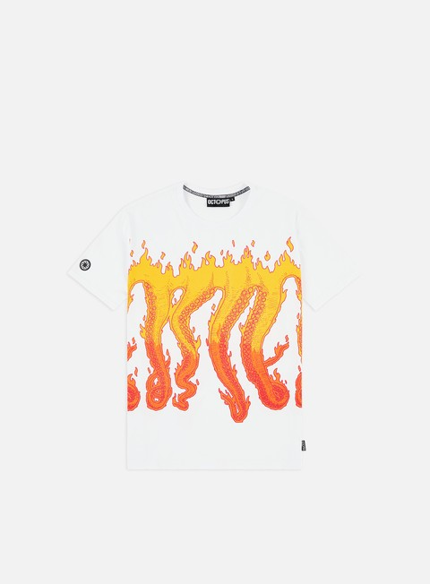 Short Sleeve T-shirts Octopus Octopus Flames T-shirt