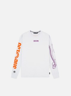 Octopus - Octopus Logo LS T-shirt, White/Purple/Orange