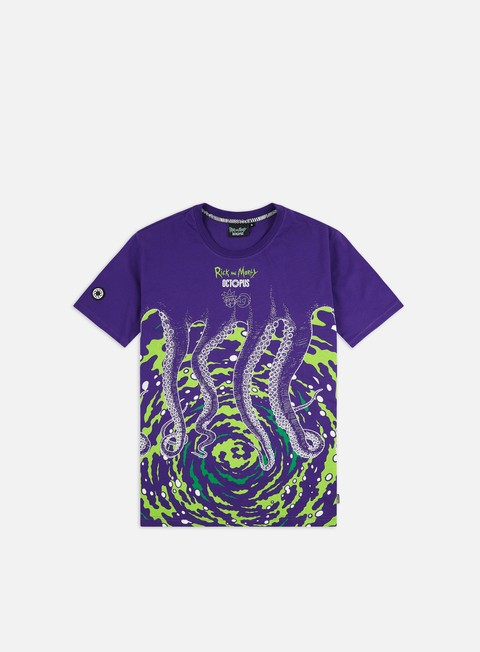 Short Sleeve T-shirts Octopus Octopus Rick And Morty Vortex T-shirt