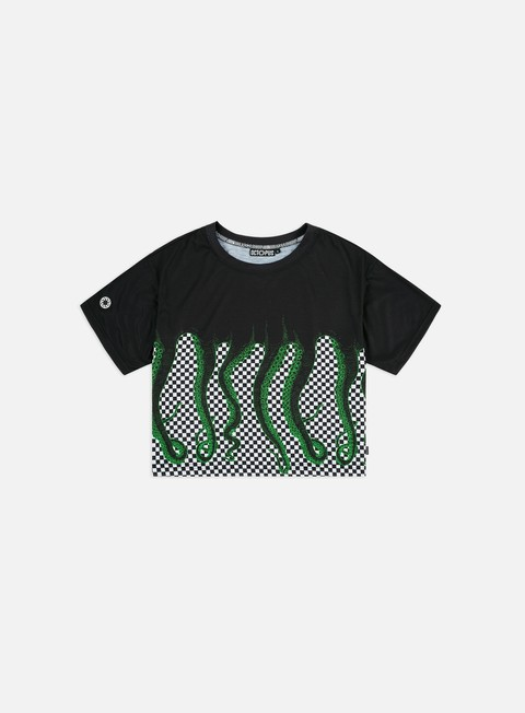 Short Sleeve T-shirts Octopus WMNS Octopus Checkered Cropped T-shirt