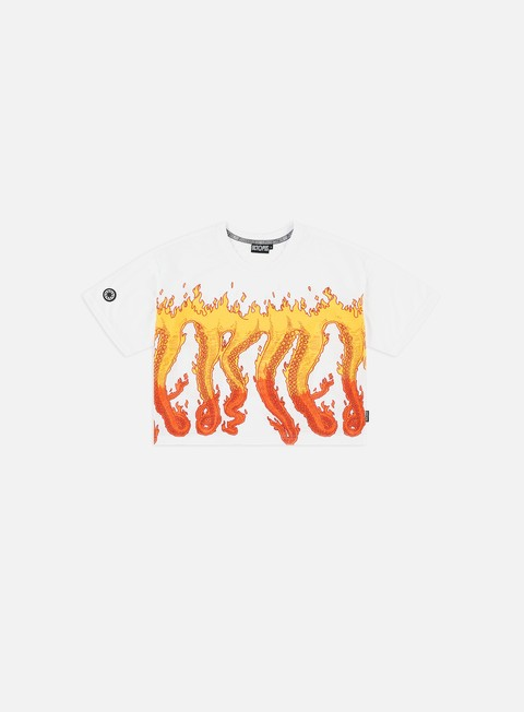 Short Sleeve T-shirts Octopus WMNS Octopus Flames Cropped T-shirt