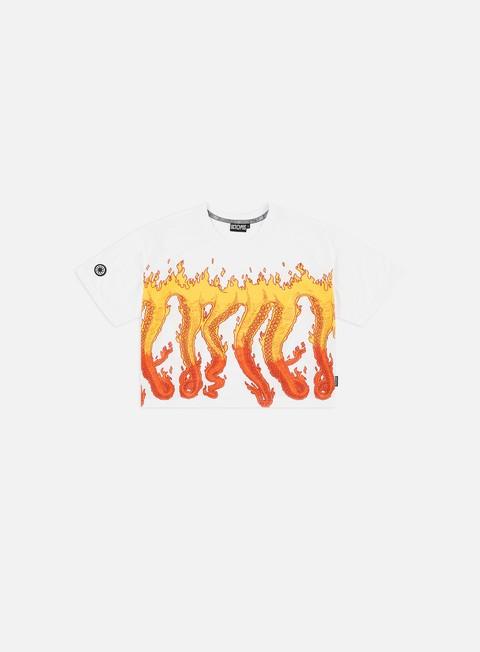Outlet e Saldi T-shirt a Manica Corta Octopus WMNS Octopus Flames Cropped T-shirt