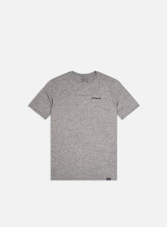 Patagonia - Capilene Cool Daily Graphic T-shirt, P-6 Logo/Feather Grey