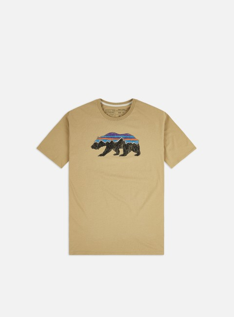 Short Sleeve T-shirts Patagonia Fitz Roy Bear Organic T-shirt