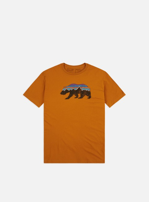 Outlet e Saldi T-shirt a Manica Corta Patagonia Fitz Roy Bear Organic T-shirt