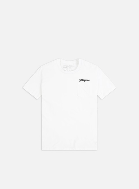 Sale Outlet Short Sleeve T-shirts Patagonia Fitz Roy Far out Organic Crew Pocket T-shirt