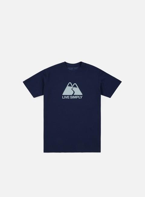 Short Sleeve T-shirts Patagonia Live Simple Winding T-shirt
