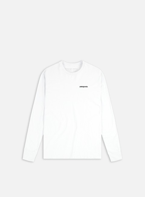 t shirt patagonia p 6 logo ls responsabilitee t shirt white