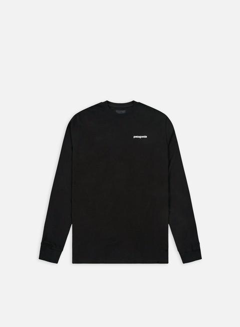 t shirt patagonia p 6 logo ls t shirt black
