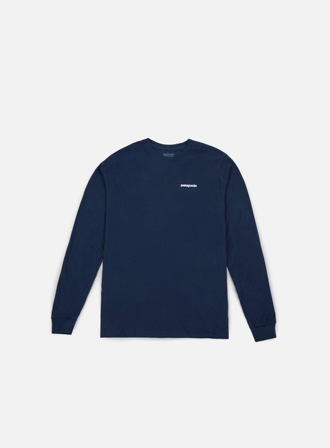 Sale Outlet Long Sleeve T-shirts Patagonia P-6 Logo LS T-shirt