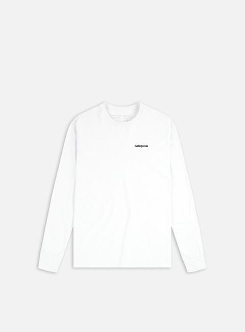 t shirt patagonia p 6 logo ls t shirt responsabili white