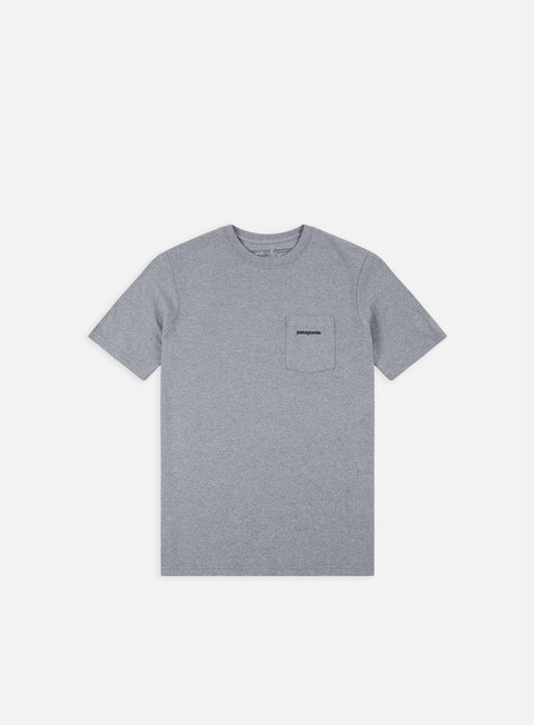 t shirt patagonia p 6 logo pocket responsibili t shirt gravel heather