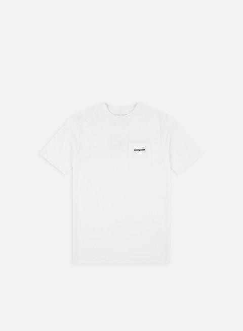 t shirt patagonia p 6 logo pocket responsibilitee t shirt white