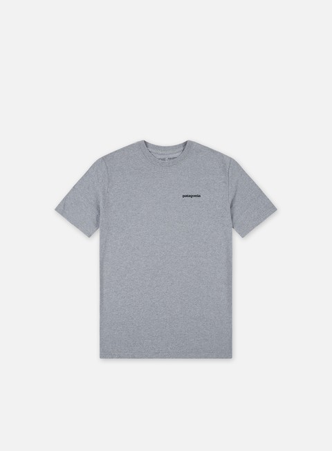 t shirt patagonia p 6 logo responsibilitee t shirt gravel heather
