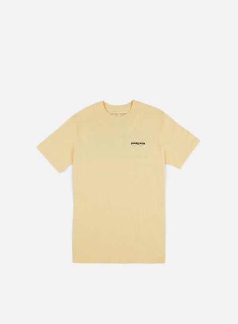t shirt patagonia p 6 logo t shirt responsabili crest yellow