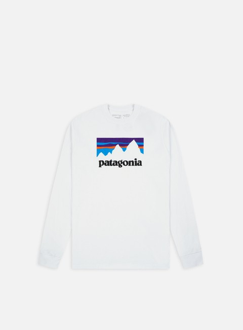 Long Sleeve T-shirts Patagonia Shop Sticker ResponsabiliTee LS T-shirt