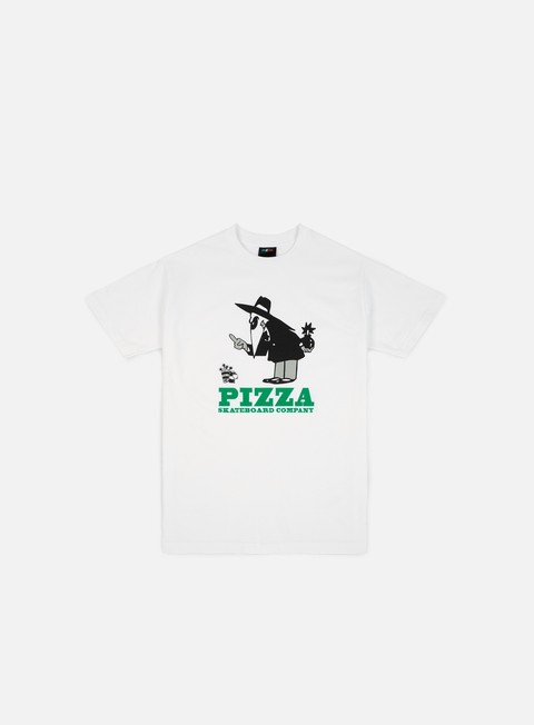 t shirt pizza skateboards western spy t shirt white