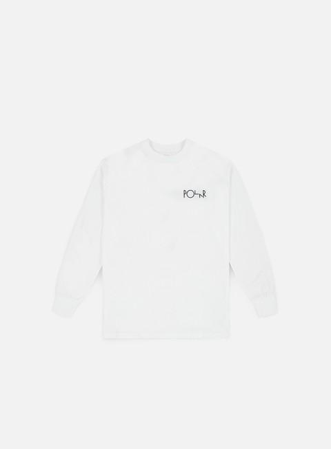 t shirt polar skate lambo life fill logo ls t shirt white