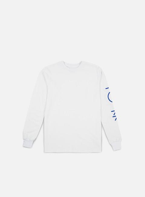 t shirt polar skate script logo ls t shirt white 80s blue