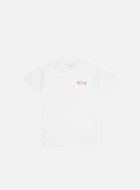 t shirt polar skate secrets fill logo t shirt white
