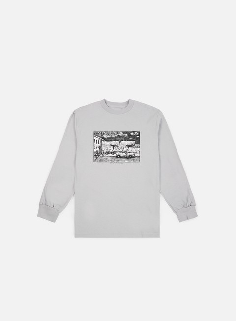 t shirt polar skate straight from the hood ls t shirt ice grey