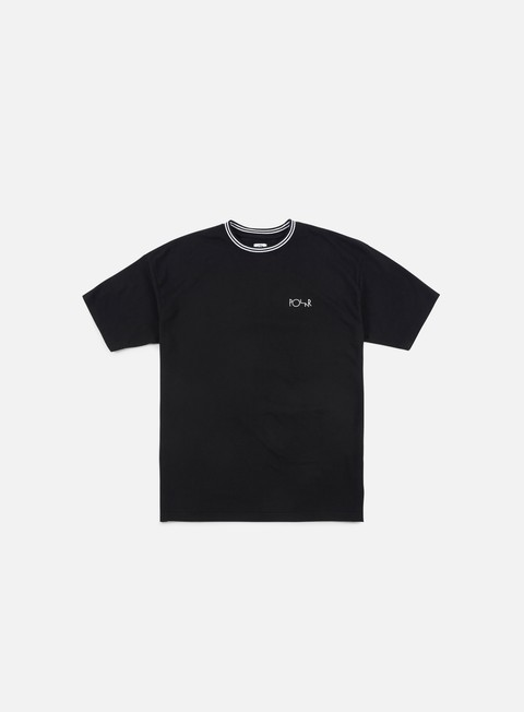 t shirt polar skate striped rib t shirt black