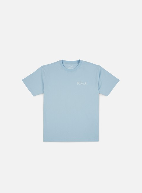 t shirt polar skate stroke logo t shirt light blue