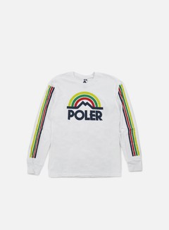 Poler - Mountain Rainbow LS T-shirt, White 1