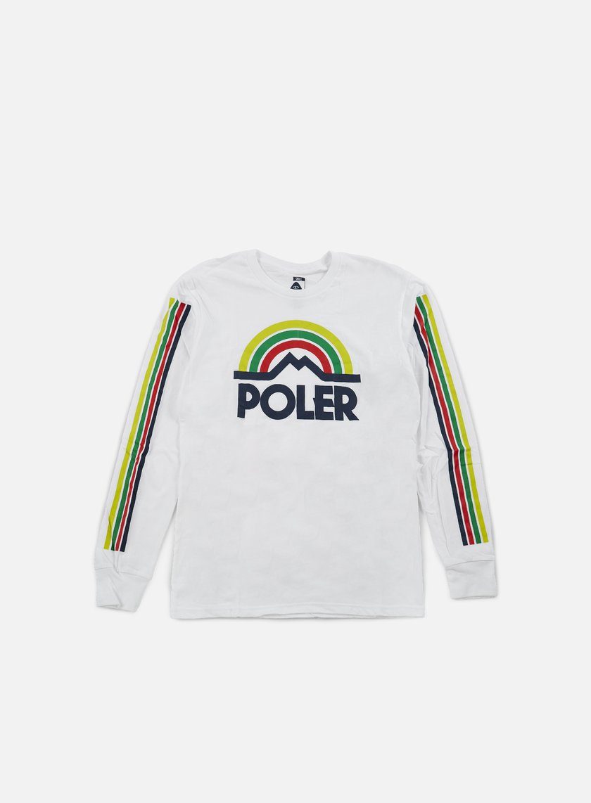 Poler - Mountain Rainbow LS T-shirt, White