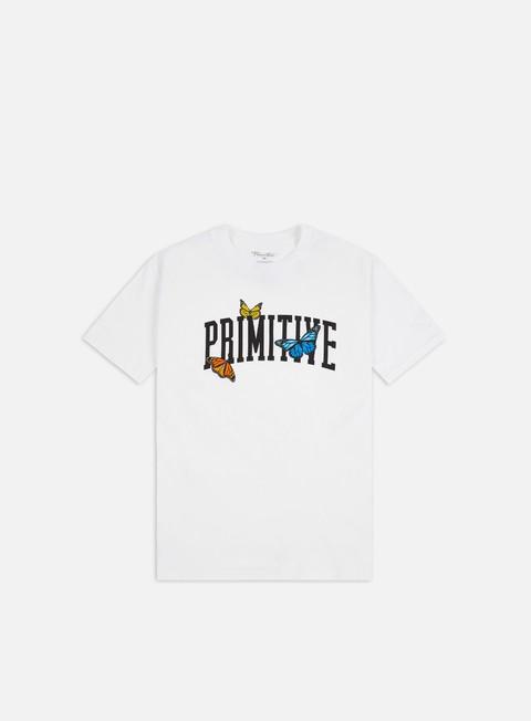Outlet e Saldi T-shirt a Manica Corta Primitive Collegiate Butterflies T-shirt
