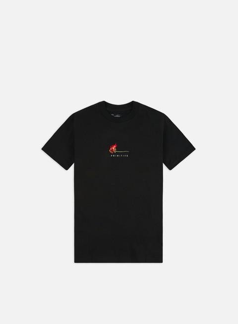 Short sleeve T-shirts Primitive Heartbreakers Club Burning T-shirt