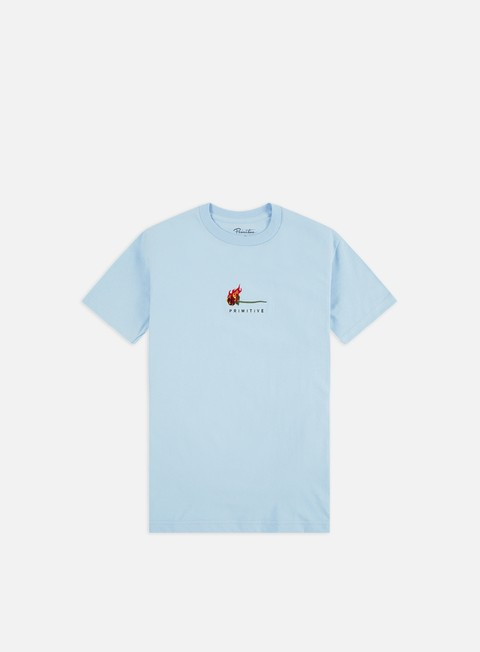 Outlet e Saldi T-shirt a Manica Corta Primitive Heartbreakers Club Burning T-shirt