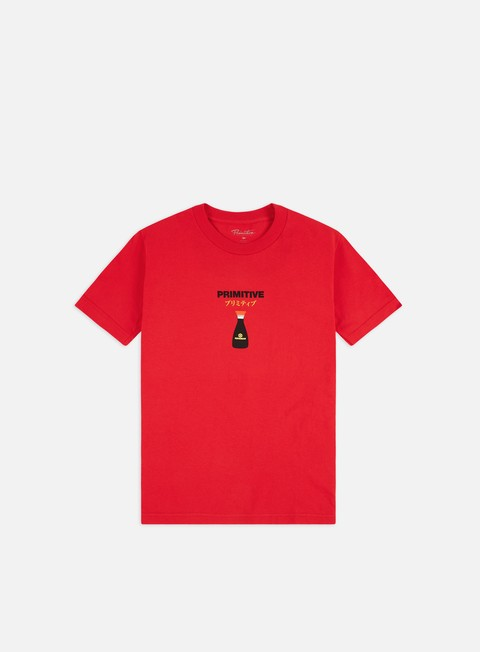 Outlet e Saldi T-shirt a Manica Corta Primitive Kikkoman Red Cap T-shirt