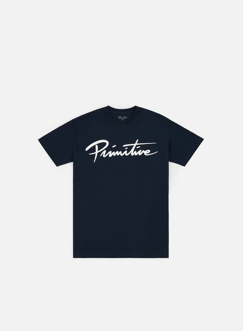 t shirt primitive nuevo script core t shirt navy white