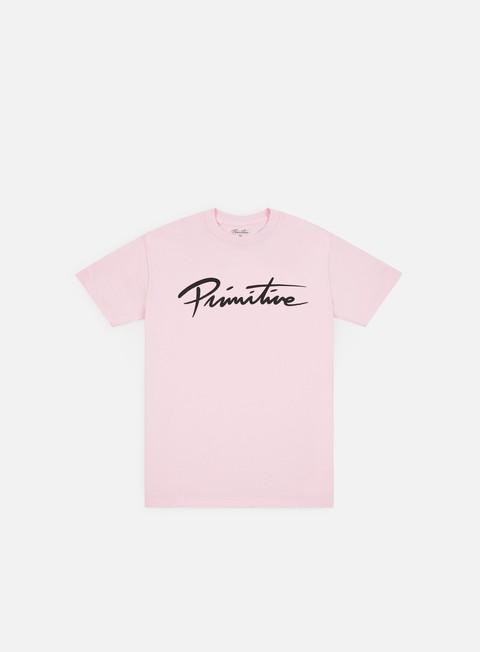 t shirt primitive nuevo script core t shirt pink