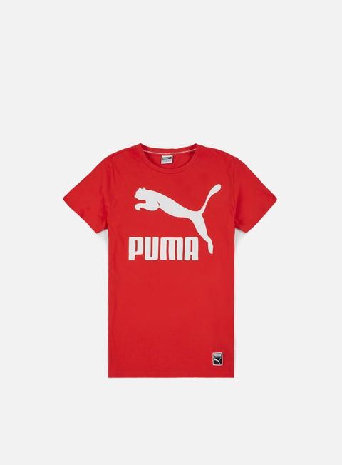 t shirt puma archive logo t shirt flame scarlet