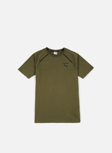 t shirt puma evo core t shirt olive night