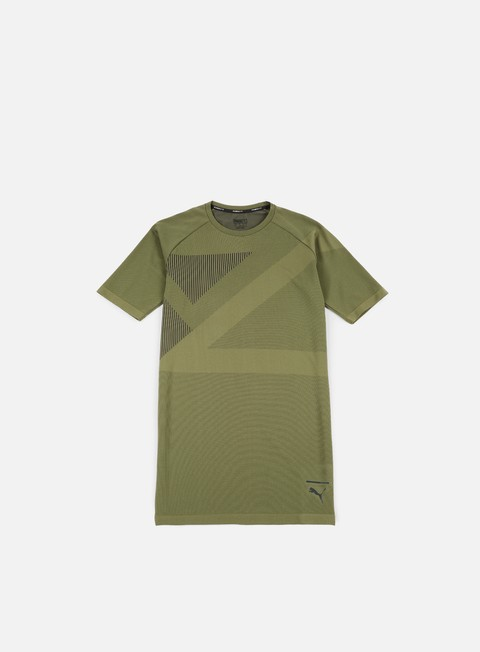 t shirt puma evoknit t shirt olive night