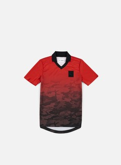 Puma - Trapstar Football T-shirt, Barbados Cherry/Trap Camo 1