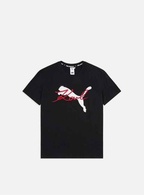 Outlet e Saldi T-shirt a Manica Corta Puma WMNS PUMA x Karl Lagerfeld T-shirt