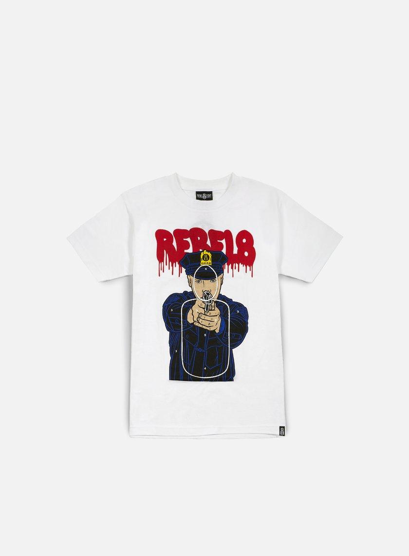 Rebel 8 - Cop Target T-shirt, White