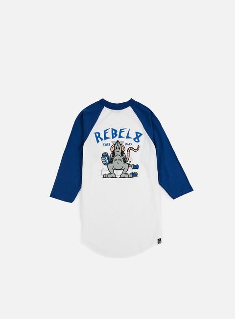 Outlet e Saldi T-shirt a Manica Lunga Rebel 8 Curb Rats Raglan T-shirt